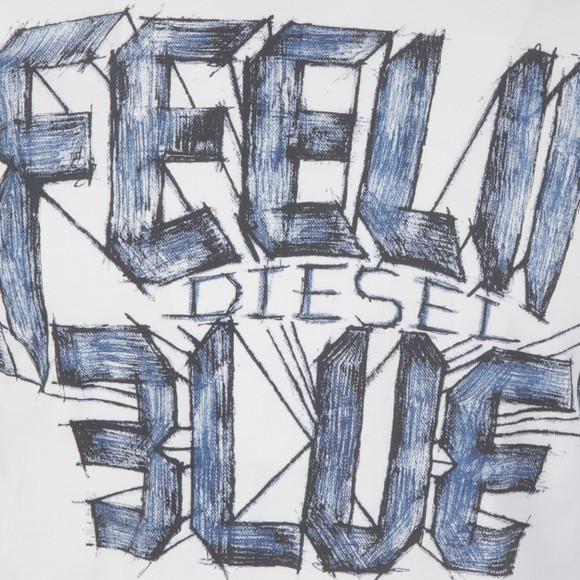Diesel Mens White Joe AA T Shirt main image