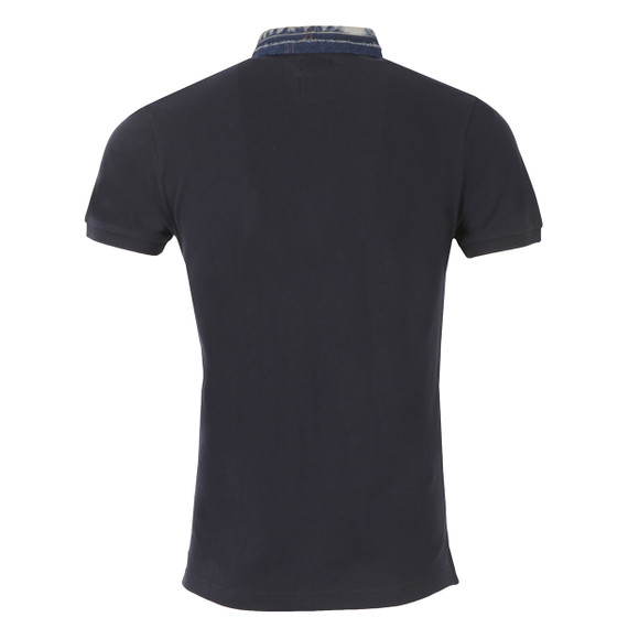 Diesel Mens Blue Serpico Denim Collar Polo Shirt main image