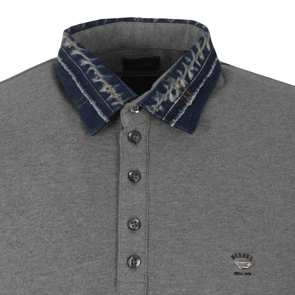 Serpico Denim Collar Polo Shirt main image