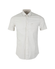 Diesel Mens Off-white Leppa Patterned Shirt