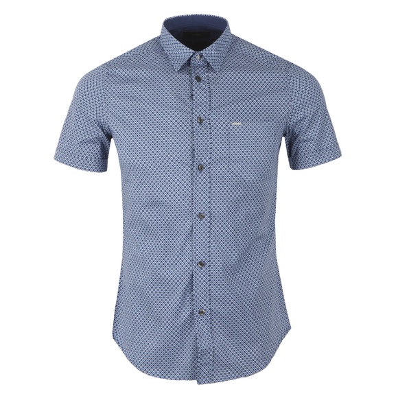 Diesel Mens Blue Leppa Patterned Shirt main image