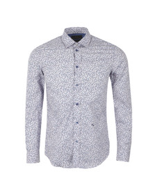 Diesel Mens Purple Trop Patterned Shirt