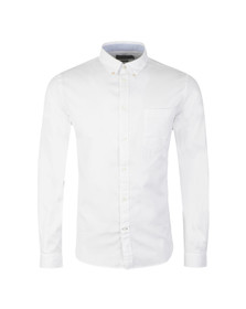 Paul Smith Jeans Mens White Tailored Fit Plain Shirt