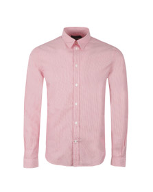 Paul Smith Jeans Mens Red Tailored Fit Fine Stripe Shirt