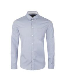 Paul Smith Jeans Mens Blue Tailored Fit Plain Shirt
