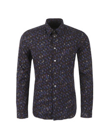 PS by Paul Smith Mens Blue Slim Allover Patterned Shirt