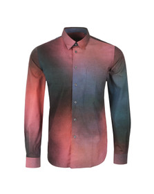 PS by Paul Smith Mens Red Classic Long Sleeve Patterned Shirt