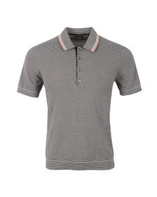 PS by Paul Smith Mens Black Stripe Short Sleeve Polo Shirt