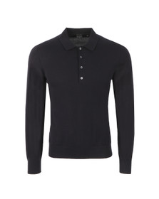 PS by Paul Smith Mens Blue Long Sleeve Knitted Polo Shirt