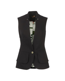 Ted Baker Womens Black Peplum Layer Waistcoat