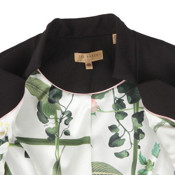 Ted Baker Womens Black Cayciw Peplum Layer Waistcoat main image
