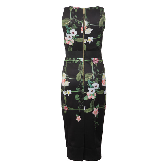 Ted Baker Womens Black Kacied Secret Trellis Elastic Dress main image