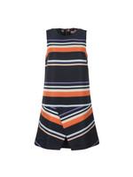 Damica Tribal Stripe Fold Skirt Tunic