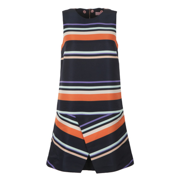 Ted Baker Womens Blue Damica Tribal Stripe Fold Skirt Tunic