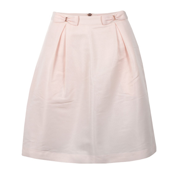 Ted Baker Womens Pink Pheobie Double Bow Mini Skirt main image