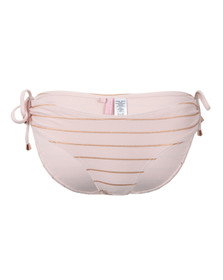 Ted Baker Womens Pink Sarinaa Foil Stripe Bikini Bottom