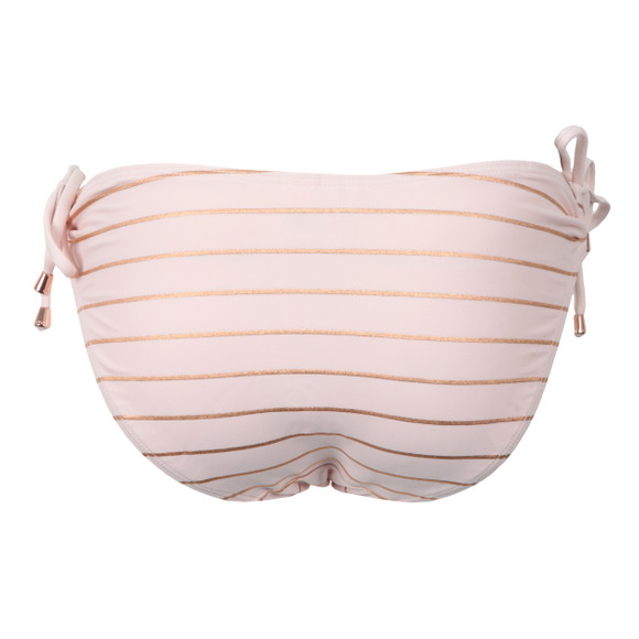 Ted Baker Womens Pink Sarinaa Foil Stripe Bikini Bottom