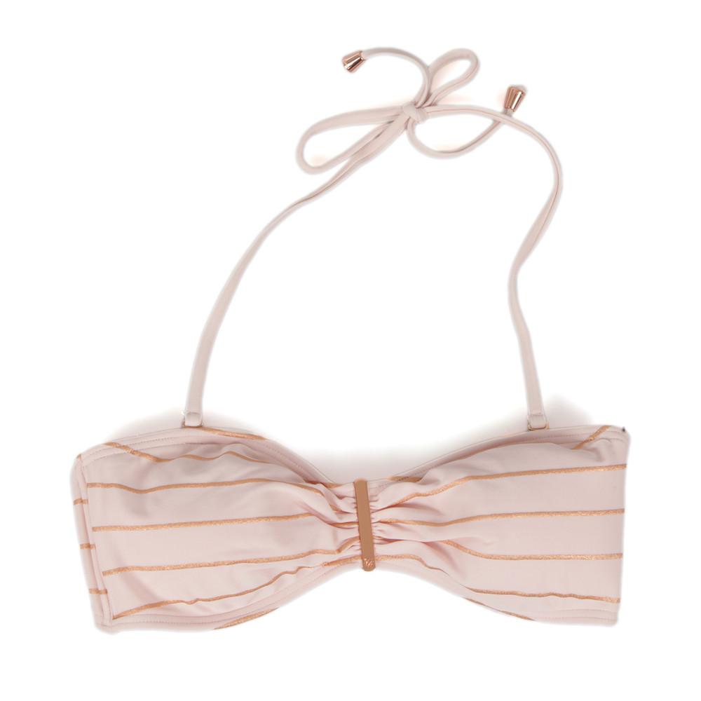 Sataraa Foil Stripe Bandeau Bikini Top main image