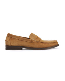 H By Hudson Mens Brown Augusta Suede Loafer