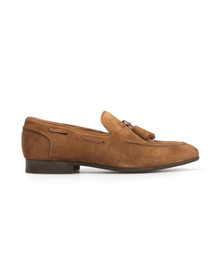 H By Hudson Mens Brown Pierre Suede Shoe
