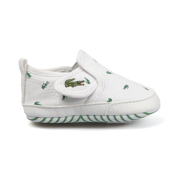 Lacoste Boys White Baby Gazon 116 Trainer main image