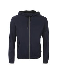 Hugo Mens Blue Bakor Hooded Jacket