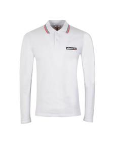 Ellesse Mens White Atrani Long Sleeve Polo Shirt