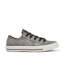 Converse Womens Black Metallic Ox Trainers