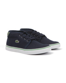 Lacoste Sport Boys Blue Ampthill 116 Canvas Trainer