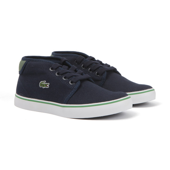 Lacoste Sport Boys Blue Ampthill 116 Canvas Trainer main image