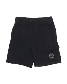 CP Company Undersixteen Boys Blue Viewfinder Sweat Short