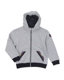 Paul & Shark Boys Grey Hooded Full Zip