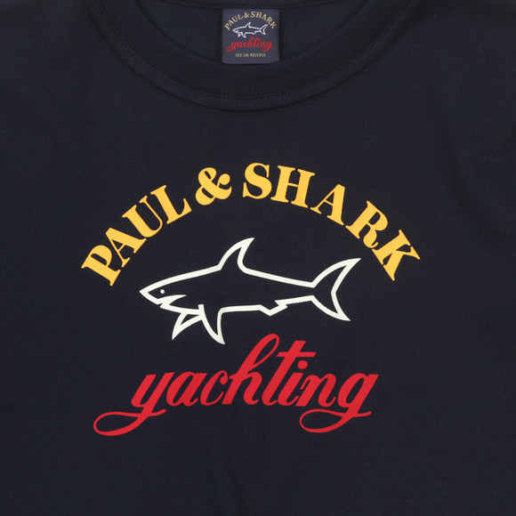 Paul & Shark Cadets Boys Blue Large Logo T Shirt main image