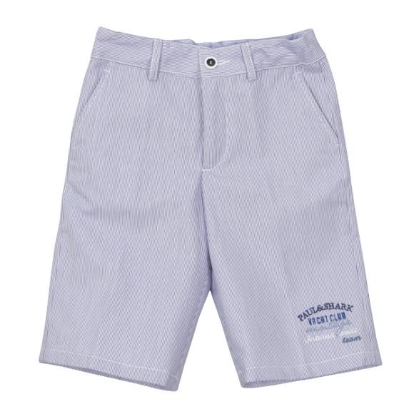 Paul & Shark Cadets Boys Blue Woven Bermuda Shorts main image