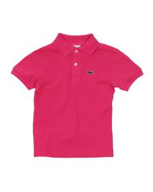 Lacoste Boys Pink Lacoste L1812 Plain Polo