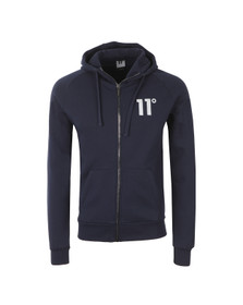 Eleven Degrees Mens Blue Base Zip Hoody