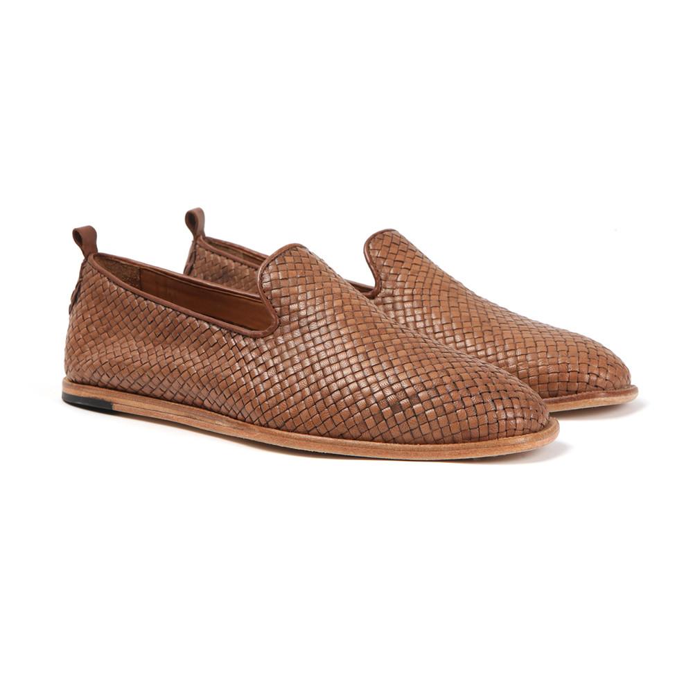 44ccb2e00ff H By Hudson Mens Brown Ipanema Weave Slip On Shoe