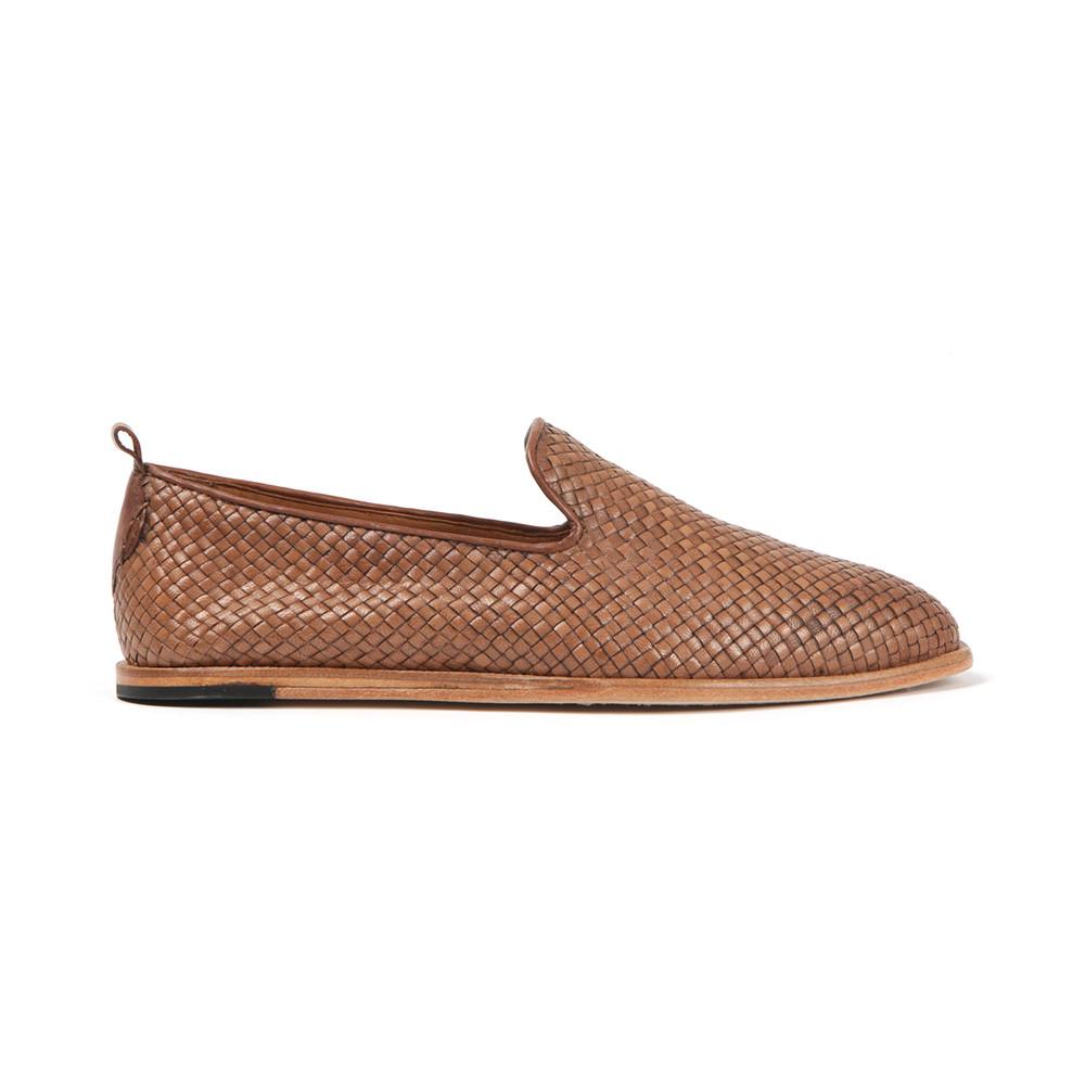 7617edf5594faa H By Hudson Mens Brown Ipanema Weave Slip On Shoe