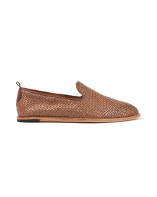 H By Hudson Mens Brown Ipanema Weave Slip On Shoe