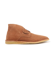 Pretty Green Mens Brown Gresham Weave Boot