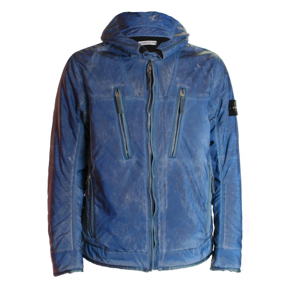 8f6522a9eb6 Mens Blue Stone Island Liquid Reflective Jacket