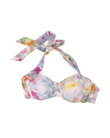 Ted Baker Womens Pink Layatta Hanging Gardens Bikini Top