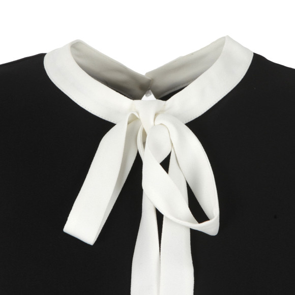Ted Baker Womens Black Olia Bow Tie Crepe Top main image