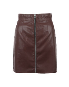 French Connection Womens Brown Atlantic PU Mini Skirt