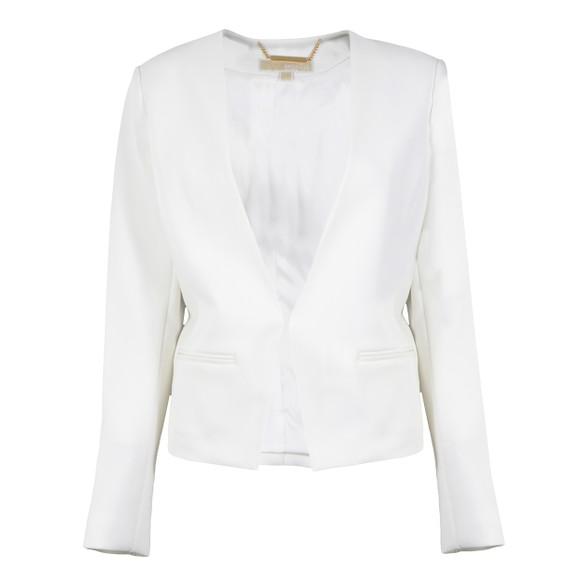 Michael Kors Womens White Minimal Besom Blazer main image