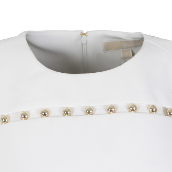 Michael Kors Womens White Bead Detail Dress main image