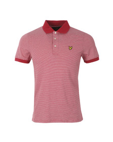 Lyle and Scott Mens Red Fine Stripe Polo Shirt