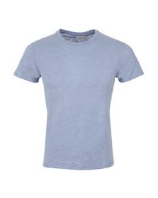 J.Lindeberg Mens Blue Brando Slub Drape T Shirt