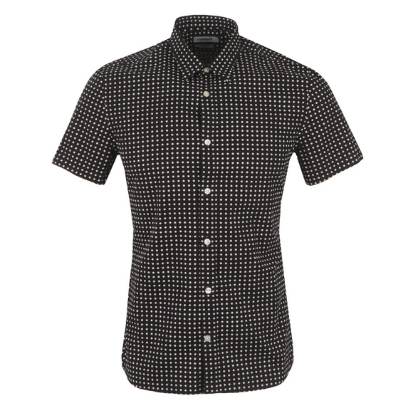 J.Lindeberg Mens Black Dani Short Sleeve Seasonal Shirt main image