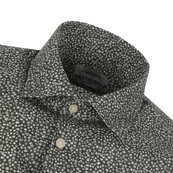 J.Lindeberg Mens Green Dani Seasonal Print Shirt main image